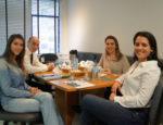 Da esquerda para direita Juliane Pavan, Dr. Marcos, Gédeas e Carolini Salvaro