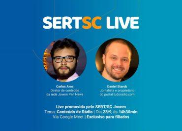 SERT/SC Jovem debate conteúdo no rádio com Carlos Aros e Daniel Starck