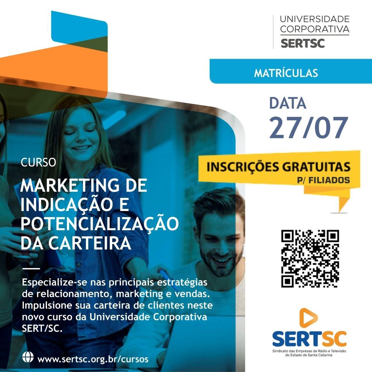 SERT/SC lança curso on-line sobre marketing de indicação