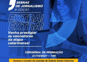 Sebrae/SC divulga os finalistas da etapa estadual do Prêmio Sebrae de Jornalismo